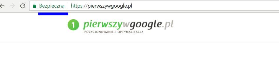 strona bezpieczna z certyfikatem ssl google chrome
